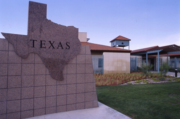 View of Texas Travel Information Center at Anthony