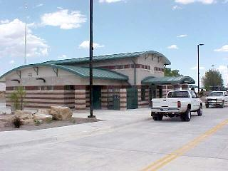 View of the new Culberson County Safety Rest Area