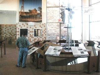 Display exhibits inside the lobby