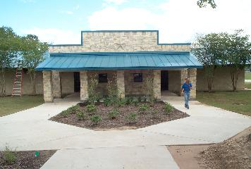 View of the reconstructed Victoria County Safety Rest Area
