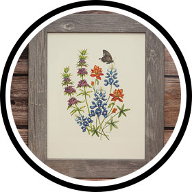 Shop the framed wildflower prints