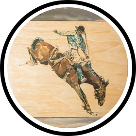 Shop the Cowboy Watercolor on Wood