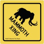 image of the mammoth x-ing sticker