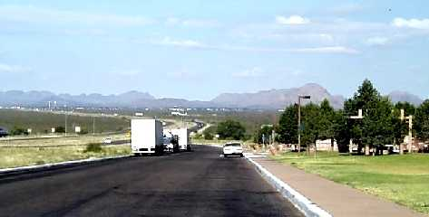 View of Culberson County rest area near Van Horn