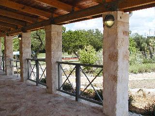 View towards garden from under the wrap-around porch