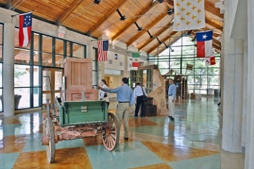 Interior view with interpretive displays of local features