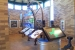 Interpretive displays of local features inside lobby area