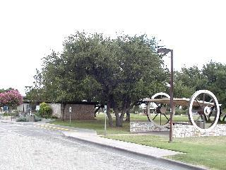 View of Sutton County rest area and a picnic arbor